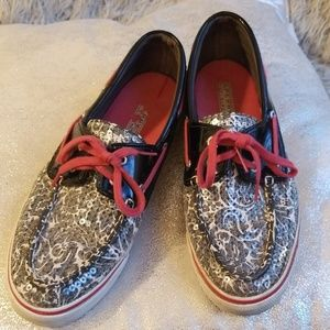 Sperry Topsider sequin sparkle boat shoes sz 8.5